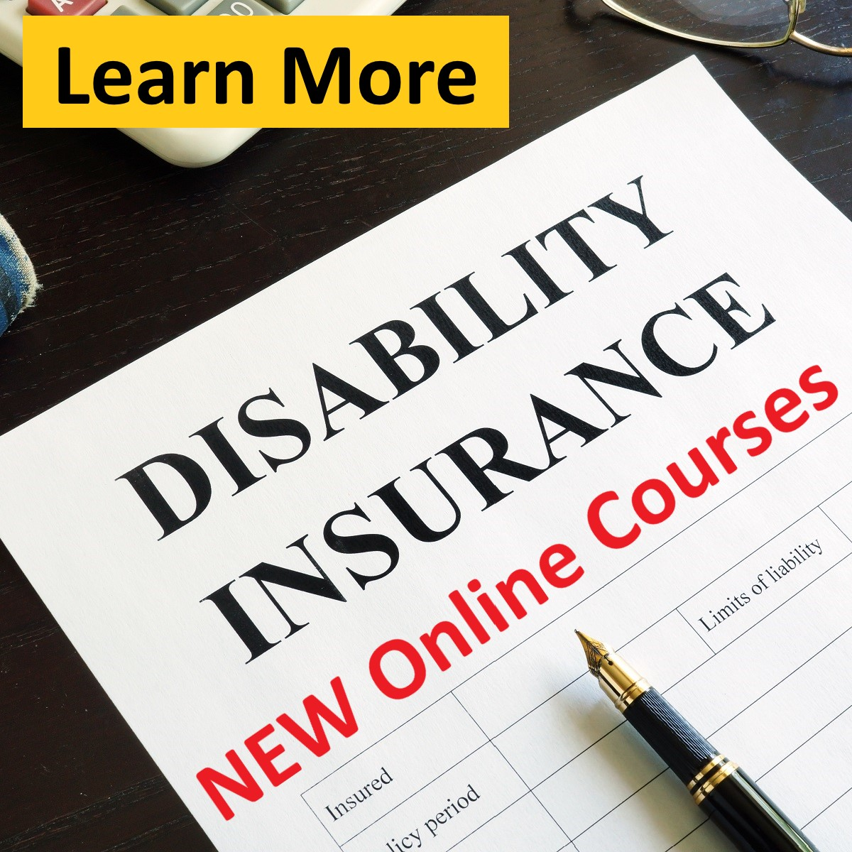 Disability Insurance Online Courses